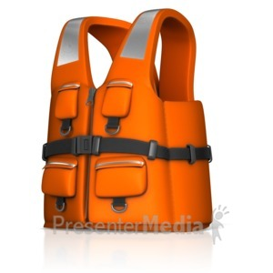 ID# 14409 - Rescue Life Jacket - Presentation Clipart