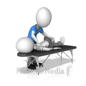 ID# 14450 - Chiropractor With Patient - Presentation Clipart