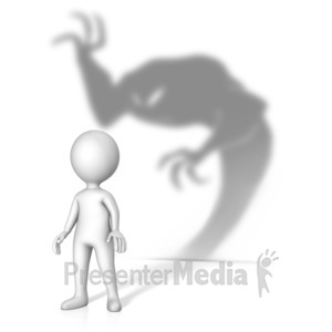 ID# 14496 - Theres A Demon About - Presentation Clipart