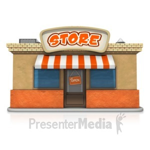 ID# 14519 - Store Business Front View - Presentation Clipart