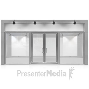 ID# 14529 - Glass Advertisement Store Front - Presentation Clipart