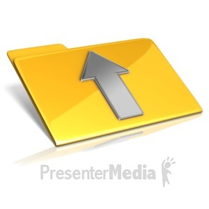 ID# 14593 - Upload To Folder - Presentation Clipart