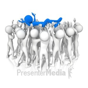ID# 14613 - Crowd Surfing Group - Presentation Clipart