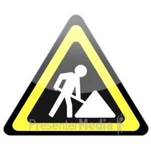 ID# 14633 - Construction Sign Icon - Presentation Clipart