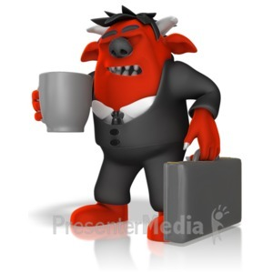 ID# 14647 - Monster Headed To Work - Presentation Clipart