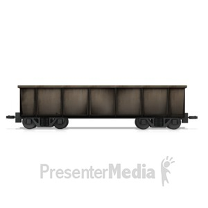 ID# 14706 - Coal Rail Car - Presentation Clipart