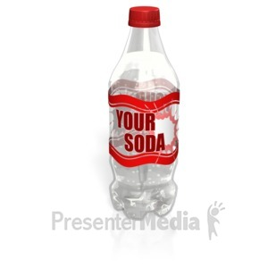 ID# 14719 - Soda Bottle Label - Presentation Clipart