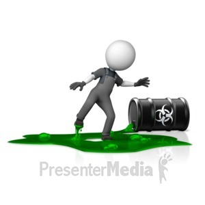 ID# 14763 - Figure in Toxic Spill Hazard - Presentation Clipart