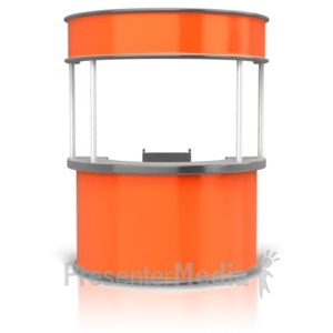 ID# 14803 - Circular Display Booth - Presentation Clipart