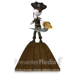 ID# 14804 - Pirate Sword Plank - Presentation Clipart