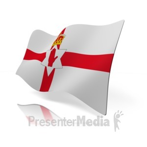 ID# 14824 - Northern Ireland Flag - Presentation Clipart
