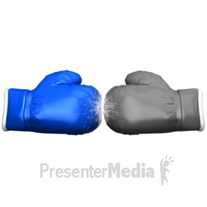 ID# 14880 - Boxing Glove Face Off Standout - Presentation Clipart