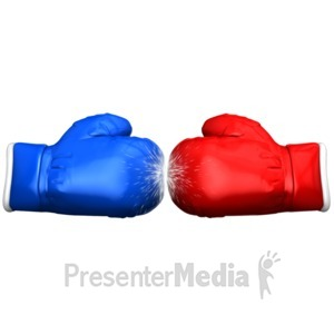 ID# 14881 - Boxing Glove Faceoff - Presentation Clipart