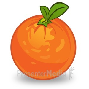 ID# 14911 - Orange Illustration - Presentation Clipart