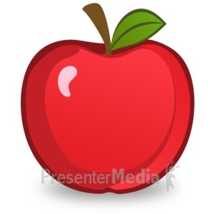 ID# 14912 - Red Apple Illustration - Presentation Clipart