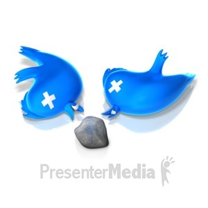 ID# 14977 - Two Birds with One Stone - Presentation Clipart