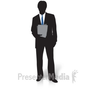 ID# 15000 - Businessman Silhouette Files - Presentation Clipart