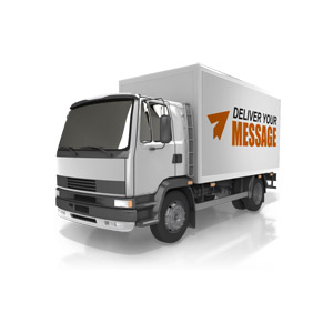 ID# 15008 - Custom Delivery Truck - Presentation Clipart