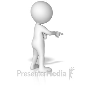 ID# 15024 - Figure Pointing Finger - Presentation Clipart