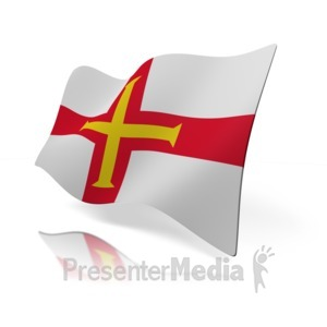 ID# 15041 - Guernsey Flag - Presentation Clipart
