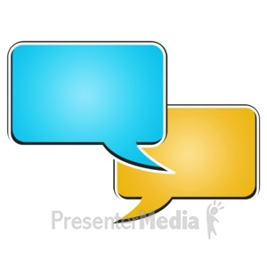 ID# 15181 - Two Rectangle Bubble Chat - Presentation Clipart