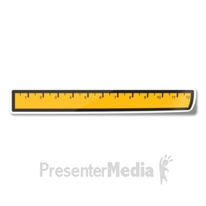 ID# 15244 - Ruler Icon Sticker - Presentation Clipart