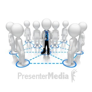 ID# 15267 - Doctor Network People - Presentation Clipart