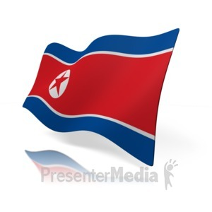 ID# 15270 - North Korea Flag - Presentation Clipart