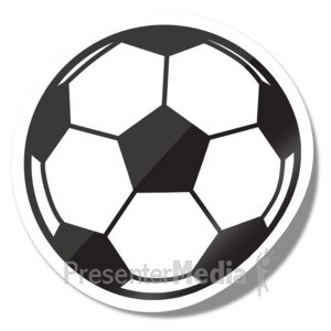 ID# 15275 - Soccer Ball Icon Sticker - Presentation Clipart