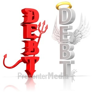 ID# 15320 - Good Debt vs Bad Debt - Presentation Clipart