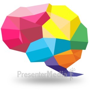 ID# 15412 - Creative Shaped Brain - Presentation Clipart