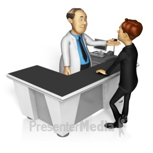 ID# 15434 - Pharmacy Check Out - Presentation Clipart