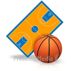 ID# 15444 - Basketball Court - Presentation Clipart