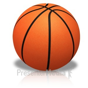 ID# 15446 - Single Basketball - Presentation Clipart