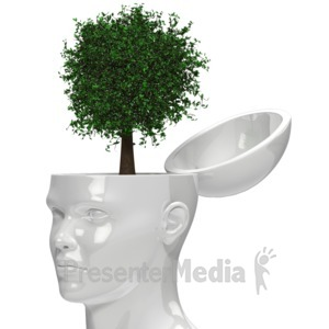 ID# 15455 - Tree Growing Out Of Head - Presentation Clipart
