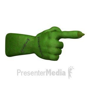 ID# 15502 - Monster Hand Point - Presentation Clipart
