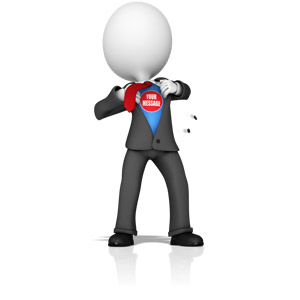 ID# 15515 - Business Figure Superhero - Presentation Clipart
