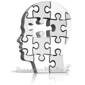 ID# 15559 - Head Puzzle Missing Piece - Presentation Clipart