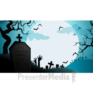 ID# 15587 - Halloween Grave - Presentation Clipart