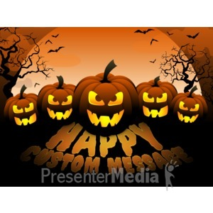 ID# 15599 - Scary Pumpkins - Presentation Clipart