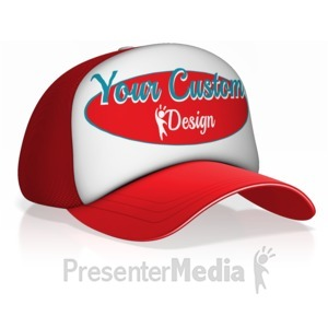 ID# 15723 - Custom Design Ball Cap - Presentation Clipart