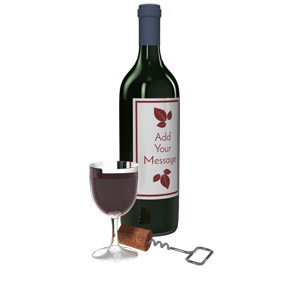 ID# 15733 - Custom Wine Bottle - Presentation Clipart