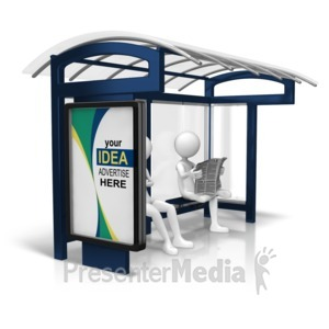 ID# 15809 - Custom Bus Stop Display - Presentation Clipart