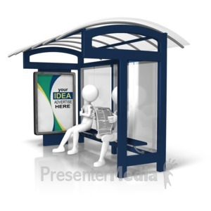 ID# 15810 - Bus Stop Custom Display - Presentation Clipart