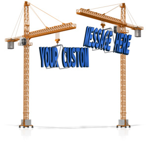 ID# 15845 - Custom Text On Crane - Presentation Clipart