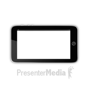 ID# 15851 - Smart Phone with Transparent Screen - Presentation Clipart