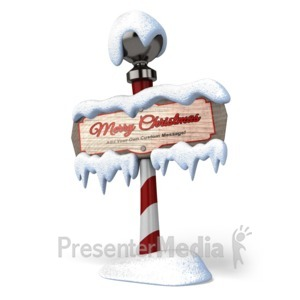 ID# 15902 - North Pole Sign - Presentation Clipart