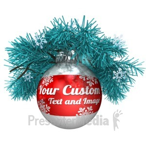 ID# 15916 - Custom Ornament In Pine - Presentation Clipart