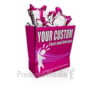 ID# 15920 - Custom Shopping Bag Presents - Presentation Clipart