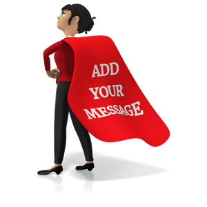 ID# 15922 - Businesswoman Superhero Custom Cape - Presentation Clipart